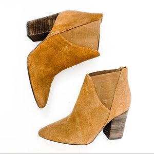Crown Vintage Shoes - Crown Vintage Tan Suede Pointed Boots   Size 6.5